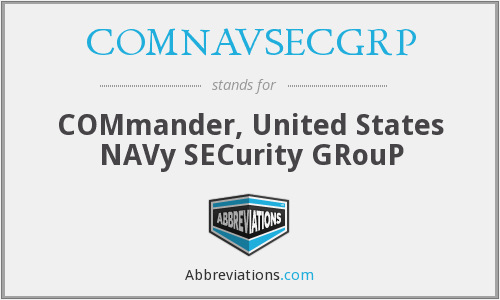 What does COMNAVSECGRP stand for?
