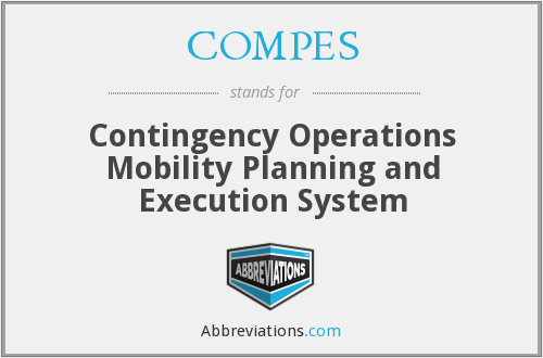 COMPES - Contingency Operations Mobility Planning and Execution System