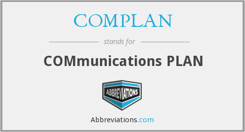 COMPLAN - COMmunications PLAN