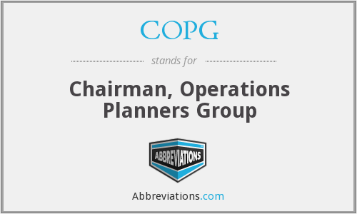 COPG - Chairman, Operations Planners Group