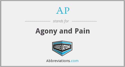 What does agony stand for?