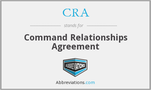 CRA - Command Relationships Agreement