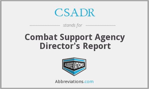 What does CSADR stand for?