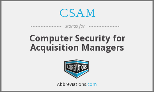 CSAM - Computer Security for Acquisition Managers