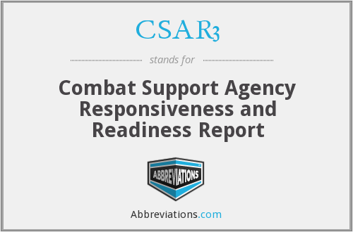 CSAR3 - Combat Support Agency Responsiveness and Readiness Report