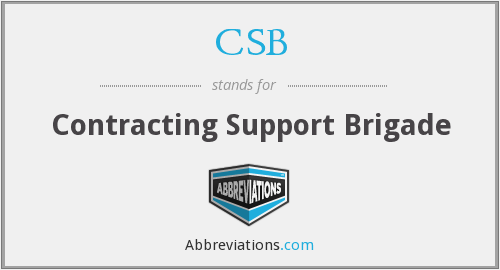 CSB - Contracting Support Brigade