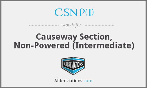 CSNP(I) - Causeway Section, Non-Powered (Intermediate)