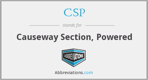 CSP - Causeway Section, Powered
