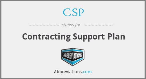 CSP - Contracting Support Plan