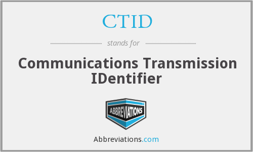 CTID - Communications Transmission IDentifier