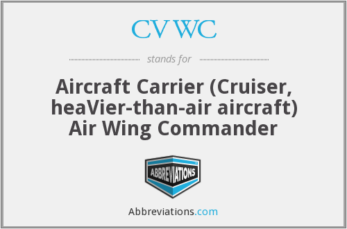 CVWC - Aircraft Carrier (Cruiser, heaVier-than-air aircraft) Air Wing Commander