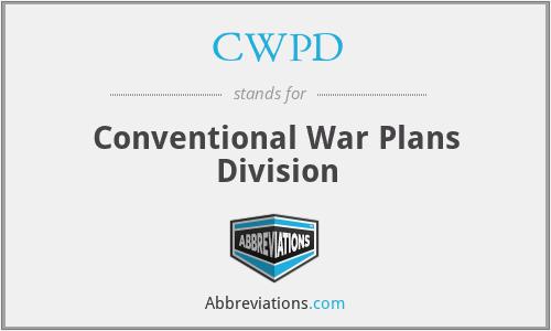 CWPD - Conventional War Plans Division