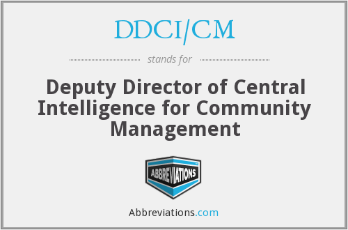 What does DDCI/CM stand for?