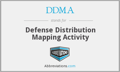 DDMA - Defense Distribution Mapping Activity