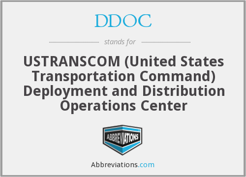 DDOC - USTRANSCOM (United States Transportation Command) Deployment and Distribution Operations Center