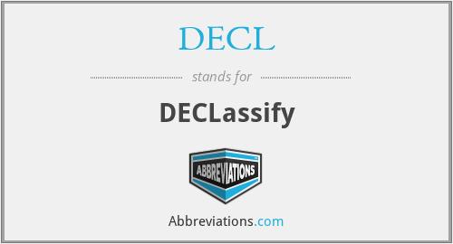 DECL - DECLassify