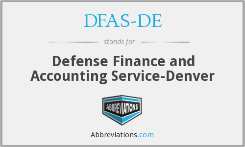 What does DFAS-DE stand for?