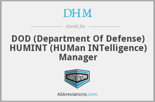 What does DHM stand for?