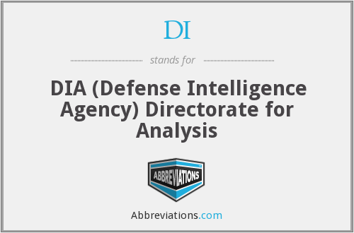DI - DIA (Defense Intelligence Agency) Directorate for Analysis