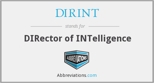 What does DIRINT stand for?