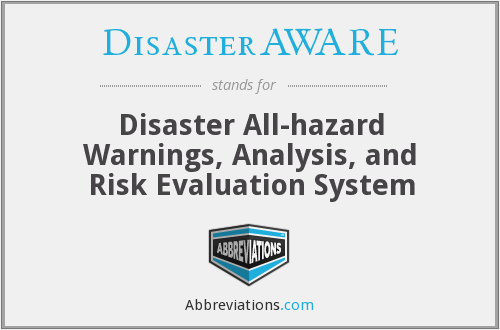 What does DISASTERAWARE stand for?