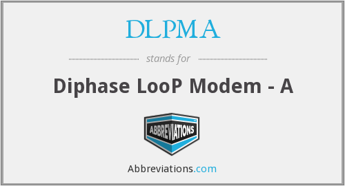 DLPMA - Diphase LooP Modem - A