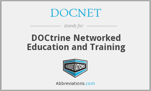 DOCNET - Doctrine Networked Education and Training