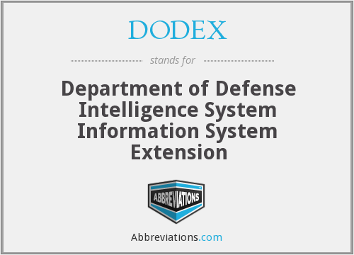 DODEX - Department of Defense Intelligence System Information System Extension