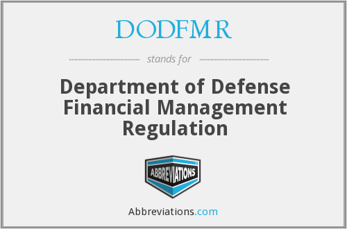 What does DODFMR stand for?