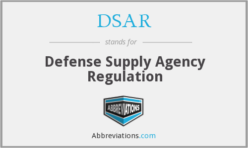 DSAR - Defense Supply Agency Regulation