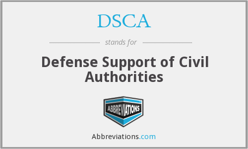 DSCA - Defense Support of Civil Authorities