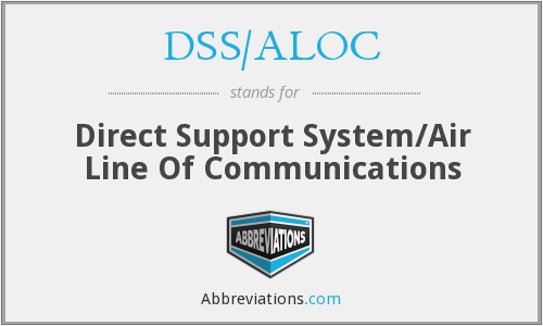 DSS/ALOC - Direct Support System/air Line of Communications