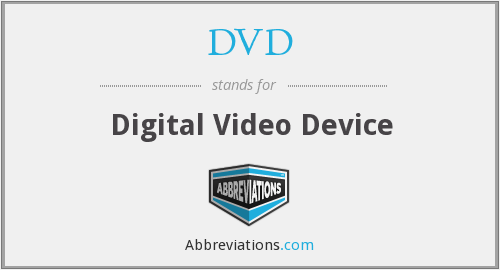 DVD - Digital Video Device