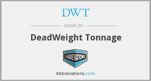 DWT - Deadweight Tonnage