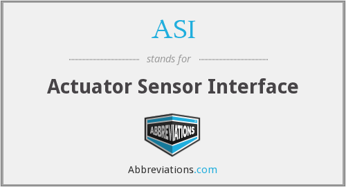 ASI - Actuator Sensor Interface