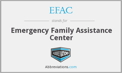 EFAC - Emergency Family Assistance Center