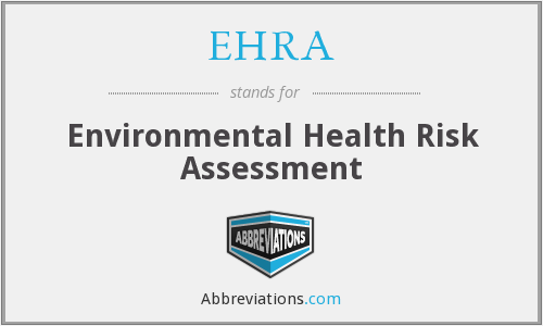 EHRA - Environmental Health Risk Assessment