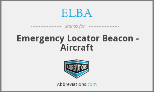 ELBA - Emergency Locator Beacon