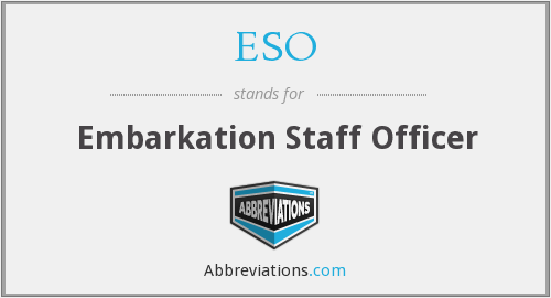ESO - Embarkation Staff Officer