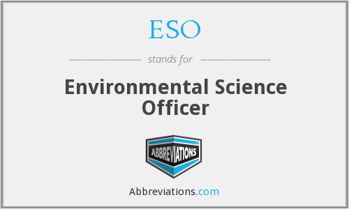 ESO - Environmental Science Officer