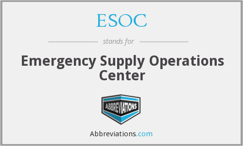ESOC - Emergency Supply Operations Center