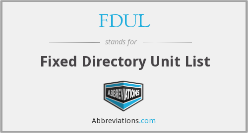 What does FDUL stand for?