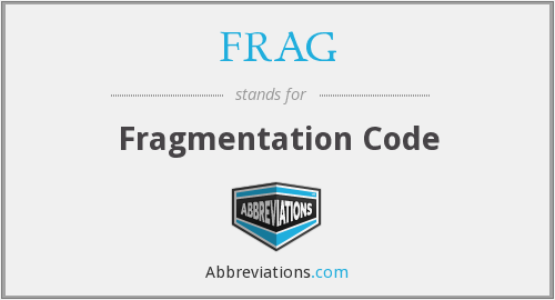 FRAG - Fragmentation Code
