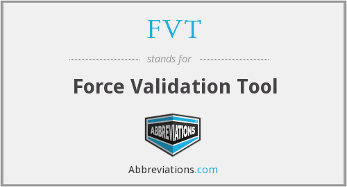 FVT - Force Validation Tool