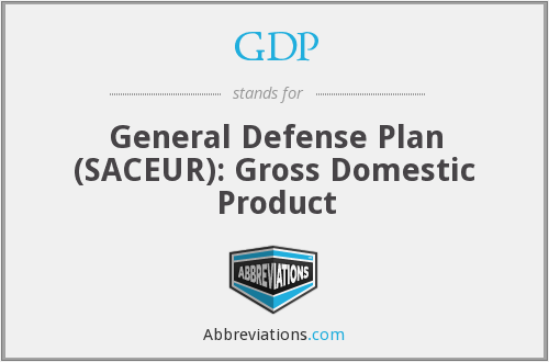 GDP - General Defense Plan (SACEUR): Gross Domestic Product