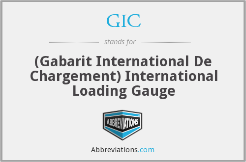 GIC - (Gabarit International De Chargement) International Loading Gauge