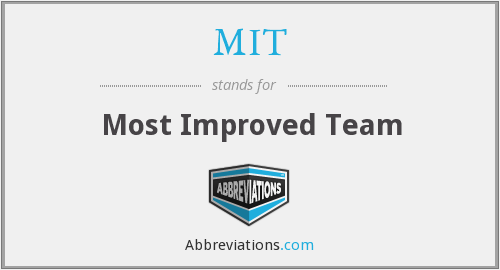 MIT - Most Improved Team