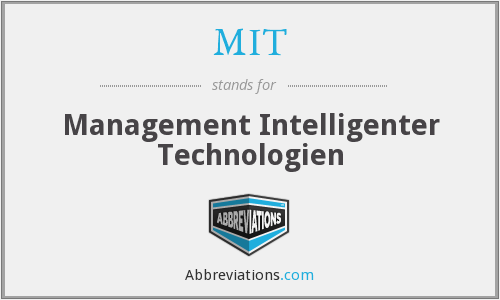 MIT - Management Intelligenter Technologien