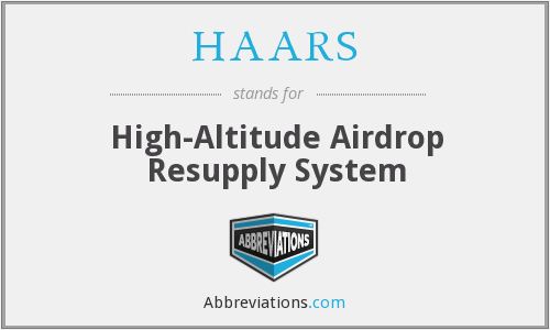 HAARS - High-Altitude Airdrop Resupply System