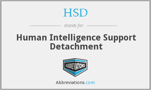 HSD - Human Intelligence Support Detachment
